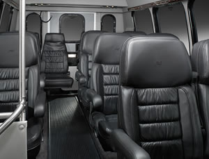 10 - 14 passenger Executive Van interior