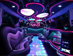 stretch Hummer SUV interior