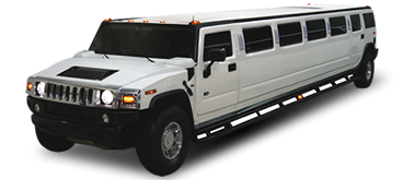 White Hummer Stretch SUV